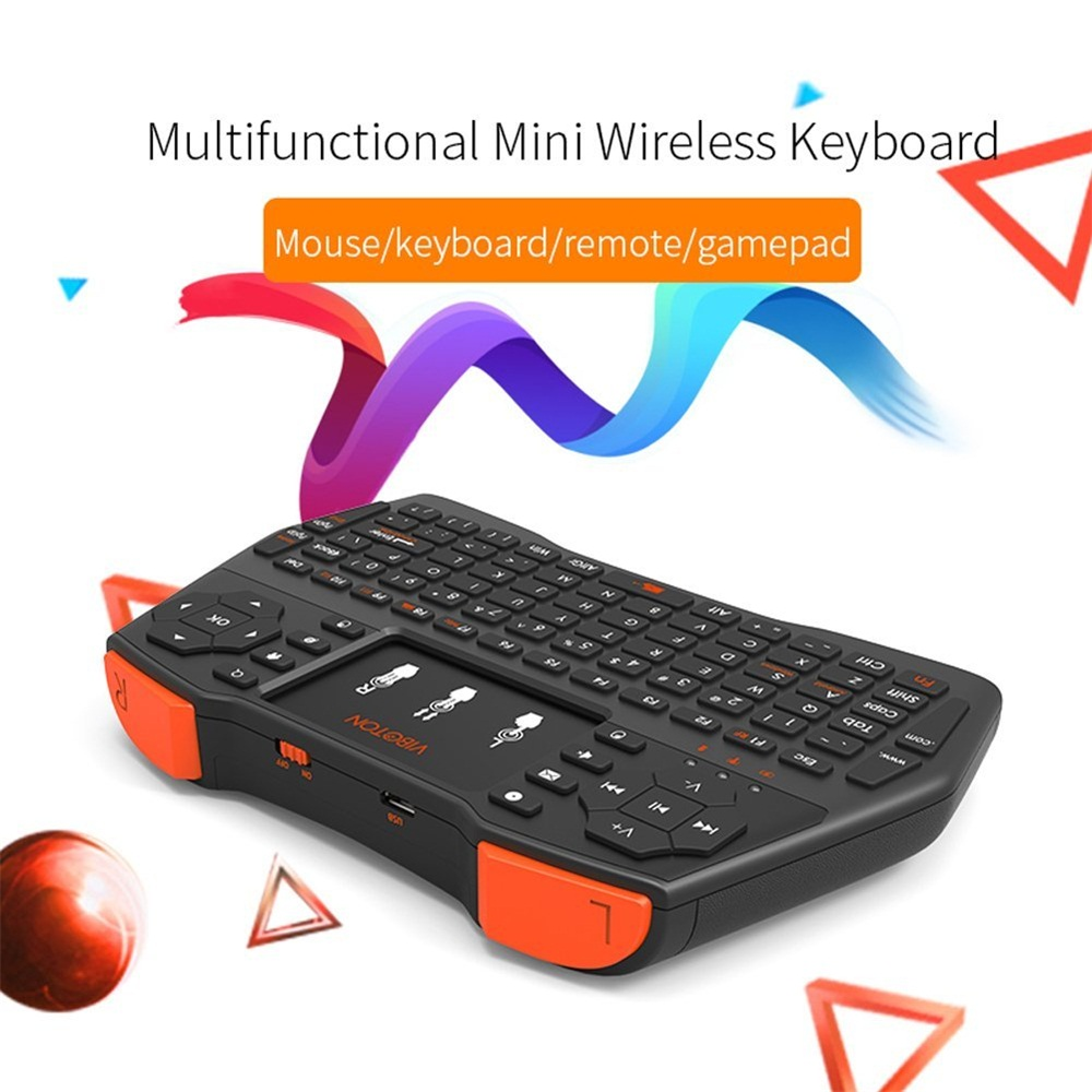 Wide varieties I8 plus 2.4GHz Mini Wireless Keyboard with Multi-Touch Pad Air Mouse Gamepad Gaming Keyboard English Version