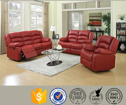 China leather comfortalbe recline sofa for sale
