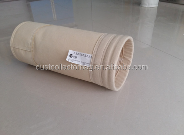 nomex+ptfe filter bag for petroleum coke calcination industry