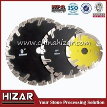 Protective teeth Dry use Diamond Saw Blade for Granite/Sandstone/Concrete