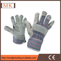 pasted cuff chrome leather working gloves