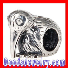 Professional Handmade European Sterling Bird Shaped Beads