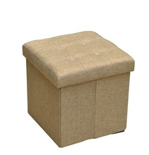 Fold able Storage Ottoman, Collapsible Storage Ottoman, Stool Ottoman,15 by 15 by 15-Inch