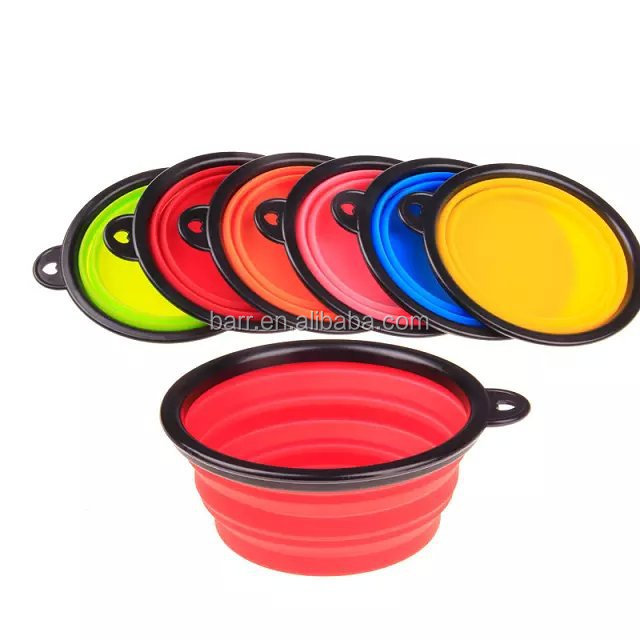 Collapsible silicone pet bowl dog cat bowl Outdoor portable pet silicone bowl