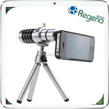 New Arrival Universal 12X Mobile Phone Zoom Lens Mini Telescope with Tripod for Samsung iPhone Zoom Lens