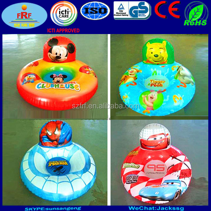 Cartoon Design Inflatable Baby Seat with backrest