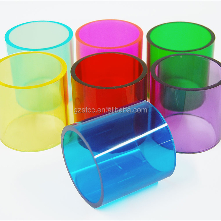 Factory Directly Custom plexiglass colorful acrylic <strong>tube</strong>