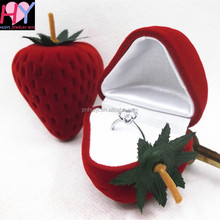 Decorative gift packaging box Strawberry shape ring earring jewelry box