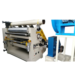Fingerless Type Single Facer / Corrugated Cardboard Single Facer Machine / Corrugated Paperboard Production Line Single Face