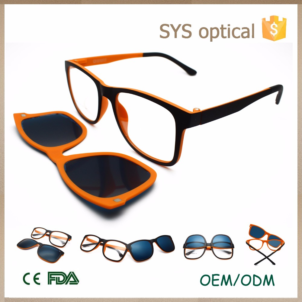 ECO Beta-memory Ultem optical frames polarized sunglasses double ...