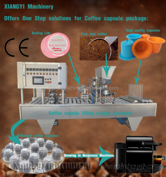 Nespresso automatic coffee capsule filling machine