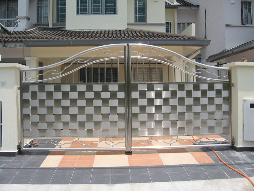New design cast iron aluminium stainless steel gate for Home gate design