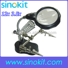 Auxiliary clip magnifier with LED Illumination
