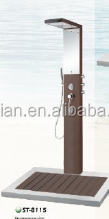 CE/ACS/CUPC/ISO 9001 China wholesale High quality manufacturer outdoor wooden bamboo rain shower ST8115