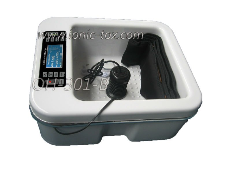 New Ion cleanse Footbath with vibration and heating function, F.I.R Belt & T.E.N.S Massage OH-301-B