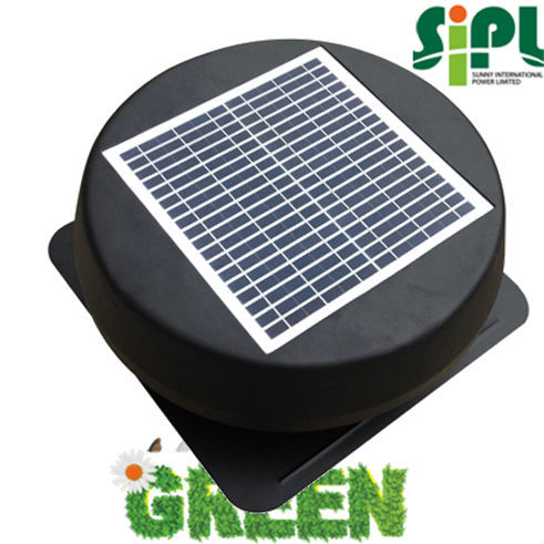 Solar vent 12 inch attic fan warehouse exhaust fan air conditioner fan with dc motor ventilator