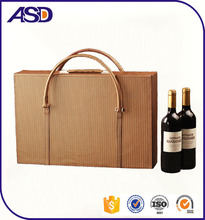 Leather wine box carrier 6 pack wine bag,6 bottles wine carrier bag