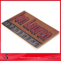 Customized Emboss Brand Leather Label Leather Patch for Garment