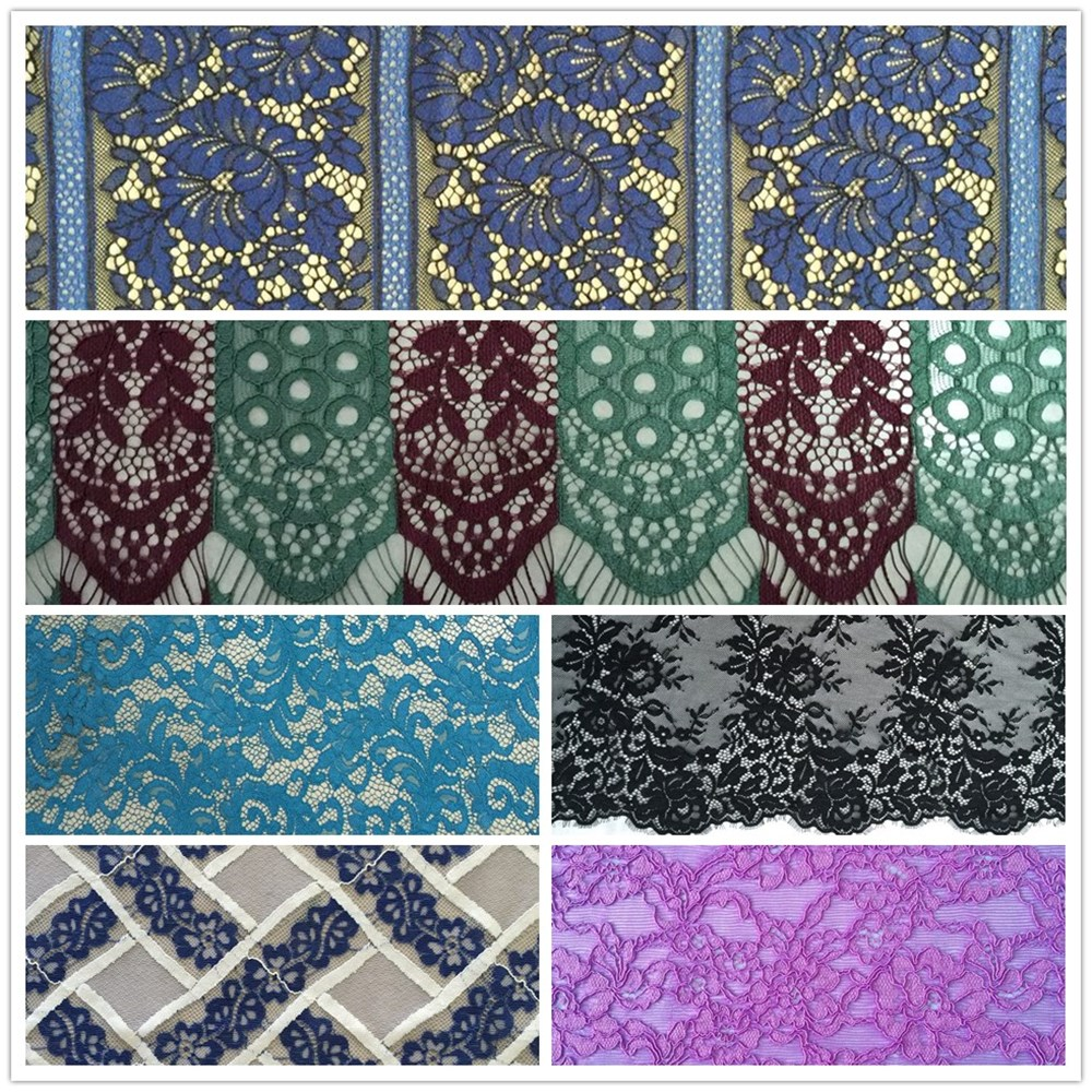 Hot sale net embroidery fabric design for dress