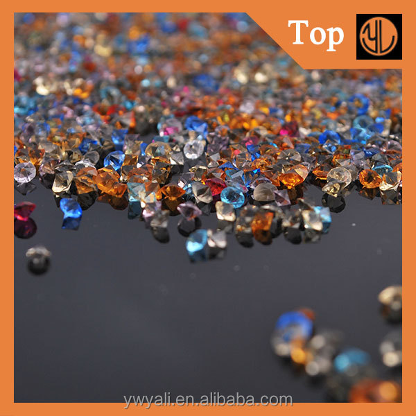 Sew-on crystal round shape loose rhinestone pointback resin