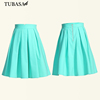 Hot Mint Green Design Skater Skirt