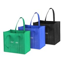 Multipurpose Reusable Non-Woven Large Grocery Tote Foldable bag folding supermarket