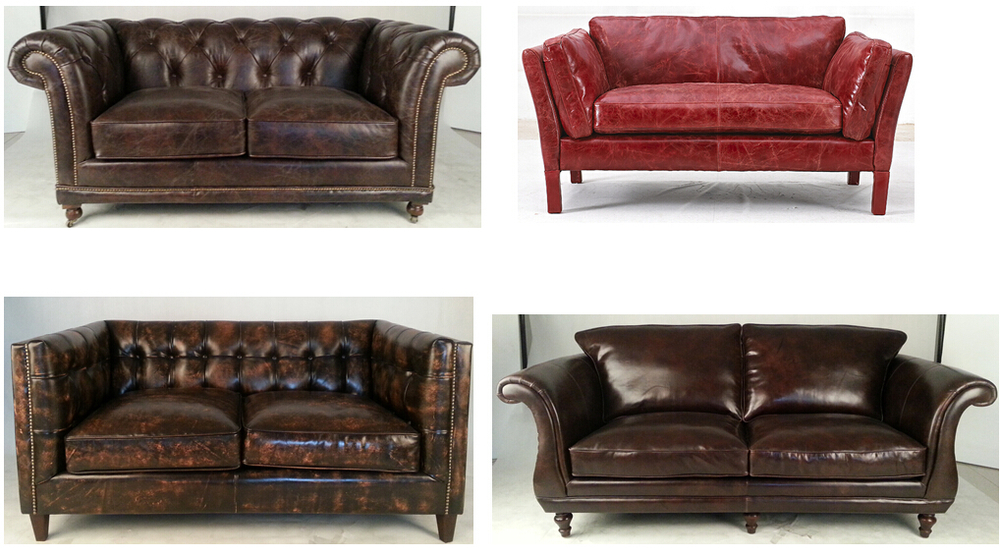 old fashioned leather sofa retro sofa ebay thesofa. Black Bedroom Furniture Sets. Home Design Ideas