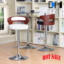 Wholesale Leather Seat Bar Chair /Modern Oak Swivel High and Wooden Bar Chairs