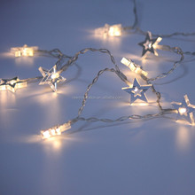 10L Warm White Led gold star christmas decoration