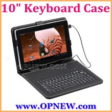 "10.1"" Keyboard Leather Cover Case QWERTY USB/mini USB/Micro Bracket Bag for 8"" Tablet PC MID PDA Drop Shipping OPNEW Wholesale"