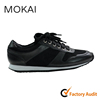 002-1 BLACK handmade real leather walking running shoes reliable sneaker china supplier