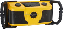 Portable Water Resistant Ultra Rugged AM/FM Radio Receiver with Large Easy to Read Backlit LCD Display