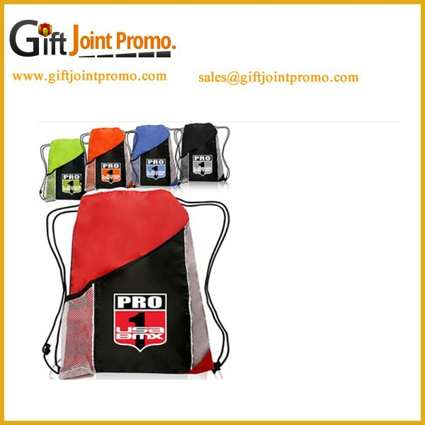 Promotional Tri-Color Sports Backpacks/Drawstring Backpack