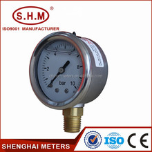 Bourdon tube silicone filled manometer pressure gauge