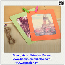 custom popular colorful cute picture mats/paper photo frame/photo decoration mats