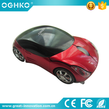 Popular 2.4Ghz cute car shap Wireless pc mouse