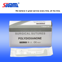 Surgical absorbable polydioxanone suture