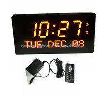 Digital Led Calendar Clock IR Remote Control Red Alarm Clock with Day and Date