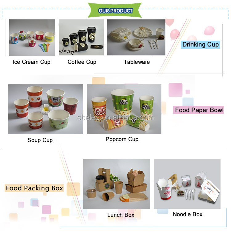 take out disposable custom printed ice cream cup