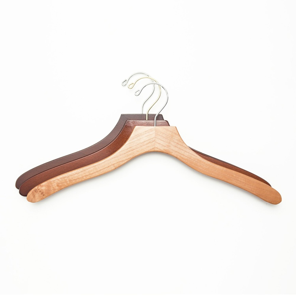 top luxury wooden shirt clothes hanger single pole