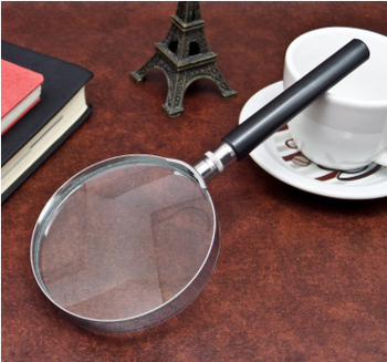 5X as much as half metal magnifying glass 90 100 50 75 mm optical reading magnifying glass