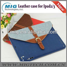 Color mix Belt Buckle Case for ipad,for apple ipad 4 case