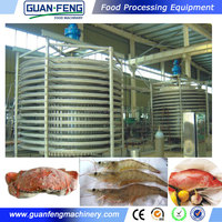 Industrial Quick Freezing Machine Spiral Freezer Chicken Wings Frozen
