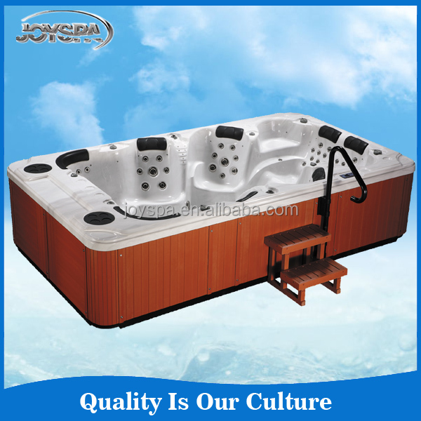 Sex Massage 8 person spa tub with LED and OZON for party fun