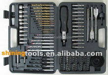 Combined drill and screwdriver bits set
