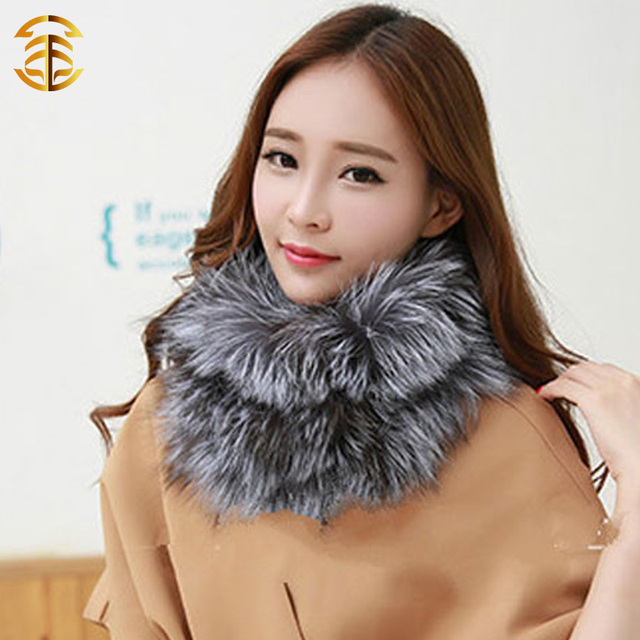 Winter Warm Real Fox Fur Ladies Fashion Neck Warmer Scarves