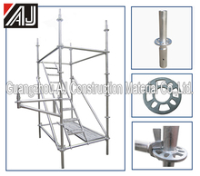Easy used Q235 steel offshore layher scaffolding with parts for stage platform