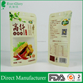 Stand up food safe printed reclosable poly bags