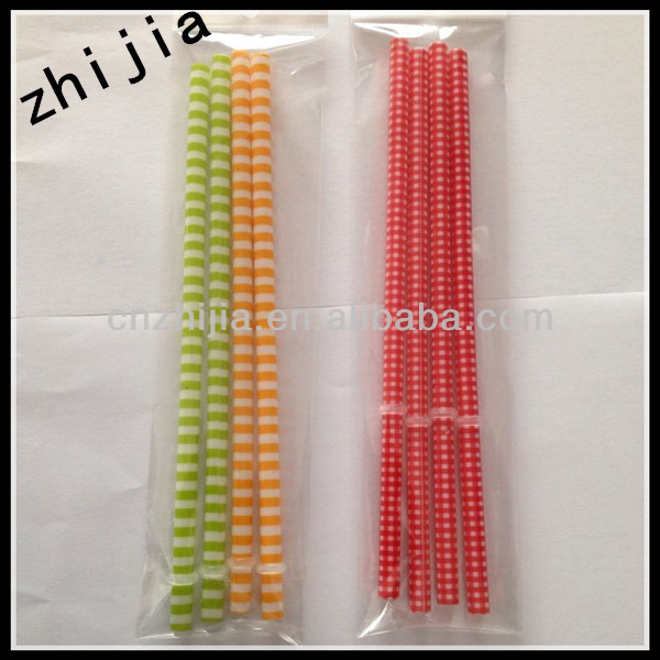 Multicolored Point Dot Paper Drinking Straws Drinking Tubes Party Supplies Halloween Decoration