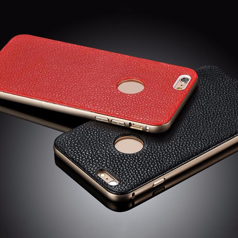 OEM bumper genuine real leather mobile phone case for iphone 7